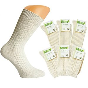 6-Paar-Damen-Natura-Bio-Socken-mit-Bio-Baumwolle-und-Leinen-Socken-mit-Muster-0