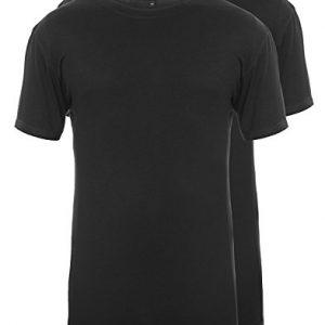 Continental-Clothing-T-Shirt-aus-Bambus-und-Bio-Baumwolle-fr-Herren-2er-Pack-Schwarz-S-bis-XXL-0