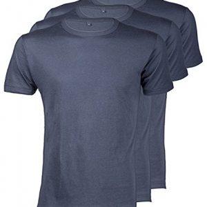 Continental-Clothing-T-Shirt-aus-Bambus-und-Bio-Baumwolle-fr-Herren-3er-Pack-Denim-Blau-S-bis-XXL-0