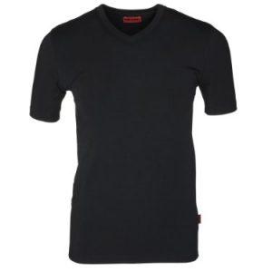 Dilling-Baumwoll-T-Shirt-fr-Herren-V-Ausschnitt-0