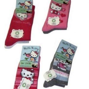 Hello-Kitty-Kinder-Socken-Gr-3134-2er-Set-Sckchen-aus-Biobaumwolle-0