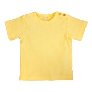 Leela-Cotton-Baby-Kinder-Kurzarmshirt-aus-Bio-Baumwolle-in-Maisgelb-0