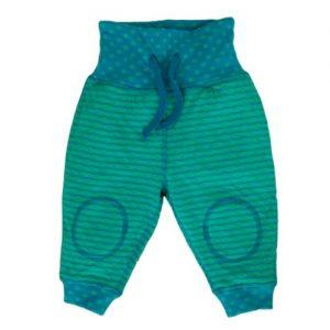 Leela-Cotton-Baby-Wendehose-aus-Bio-Baumwolle-in-Nordisch-BlauIrisch-Grn-0