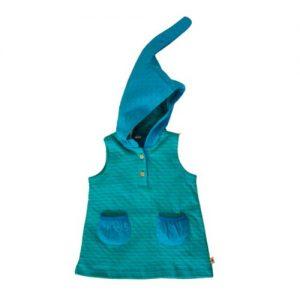 Leela-Cotton-Baby-und-Kinder-Kapuzenkleid-aus-Bio-Baumwolle-in-Nordisch-BlauIrisch-Grn-gestreift-0