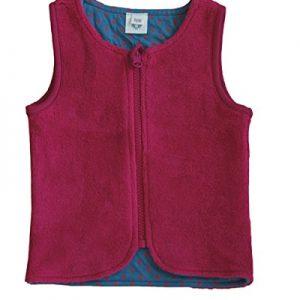 Leela-Cotton-Bio-Baumwolle-Fleece-Wendeweste-Farbe-Himbeerrot-0