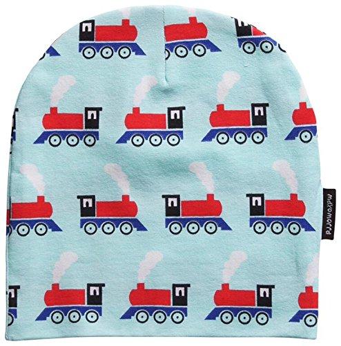 MAXOMORRA-Jungen-Mtze-Lokomotive-Zug-Train-Hellblau-Biobaumwolle-GOTS-0