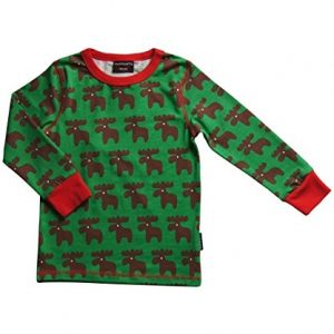 MAXOMORRA-Jungen-T-Shirt-Langarm-Elch-Moose-Grn-Biobaumwolle-GOTS-0