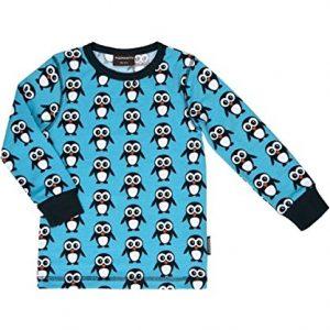 MAXOMORRA-Jungen-T-Shirt-Langarm-Pinguine-Blau-Biobaumwolle-GOTS-0