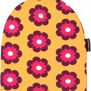 MAXOMORRA-Mdchen-Blume-Petunia-Mtze-Orange-Biobaumwolle-GOTS-0
