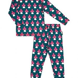 MAXOMORRA-Pyjama-Schlafanzug-Mdchen-Pilze-Mushroom-Blau-Biobaumwolle-GOTS-0