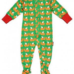 Maxomorra-Babystrampler-Schlafanzug-Eichhrnchen-Bio-Baumwolle-GOTS-grn-mit-Printmotiv-0