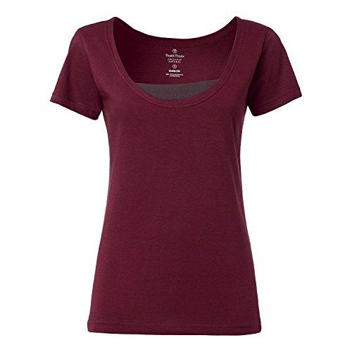 ThokkThokk-TT25-Deep-Neck-T-Shirt-Bordeaux-0