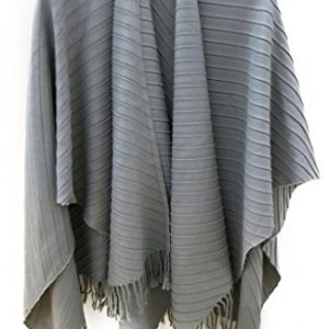 accessu-eleganter-Damen-Poncho-Cape-mit-Plissee-Design-Alternative-zu-Jacke-und-Pullover-HerbstWinter-0