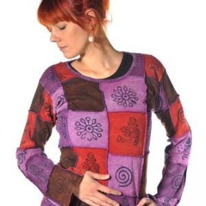 bedrucktes-Langarm-Patchwork-Shirt-0