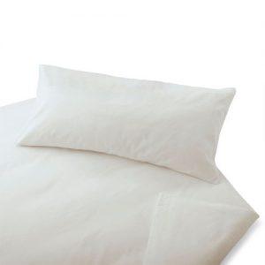 Cotonea-Biber-Bettwsche-Uni-wei-Bio-Baumwolle-Bettbezug-einzeln-135x200-cm-0