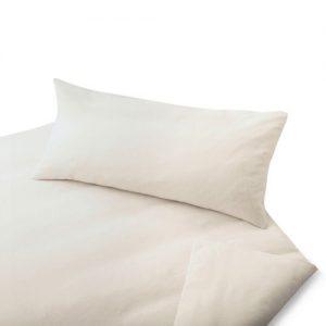 Cotonea-Biber-Bio-Bettwsche-natur-Kissenbezug-einzeln-40x80-cm-0