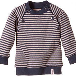 Lana-Natural-Wear-Baby-Mdchen-Pullover-Pulli-Momo-Gestreift-Gr-80-Herstellergre-7480-Mehrfarbig-Ombre-Blue-Rose-Water-2203-0