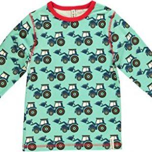 Maxomorra-Jungen-Longsleeve-Pullover-Trecker-trkis-blau-rot-Bio-Baumwolle-GOTS-mit-Trecker-Motiv-Gre110116-0