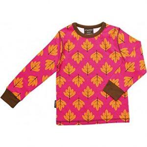 Maxomorra-Top-Longsleeve-Herbstlaub-Bio-Baumwolle-GOTS-pink-mit-Printmotiv-Gre110116-0