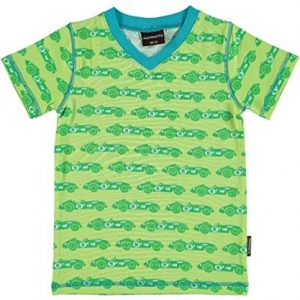 Maxomorra-Top-V-neck-T-Shirt-Cars-Gre-8692-0
