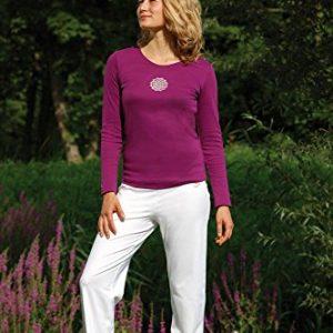 Shirt-Langarm-Blume-des-Lebens-Viola-L-0
