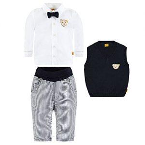 Steiff-Set-FESTTAG-Schlupfhose-Jersey-Hemd-mit-Schleife-und-Pullunder-74-9-Monate-0