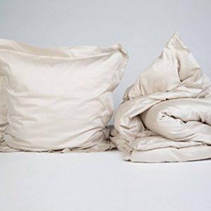 Yumeko-Bettwsche-Bettwscheset-Baumwollsatin-200x220-cm-Kissenbezge-80x80-cm-Sandy-Grey-Grau-100-biologische-Baumwolle-kologisch-weich-geschmeidig-Fair-Trade-0