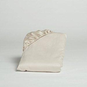 Yumeko-Bettwsche-Spannbettlaken-Baumwollsatin-160x200x30-cm-Sandy-Grey-Grau-100-biologische-Baumwolle-kologisch-weich-glatt-Fair-Trade-0